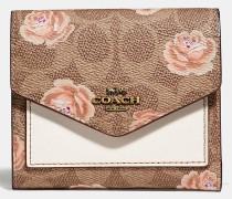 Kleines Portemonnaie mit charakteristischem Rosenprint