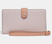 Smartphonetasche in Blockfarben mit Handschlaufe und bedruckter Innenseite