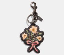 Taschenanhänger mit Blumen- und Schleifen-Print