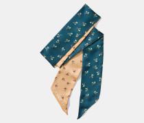 Schmaler Schal mit Blumen- und Schleifen-Print