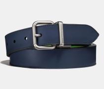 Zuschneidbarer Jeans-Wendegürtel aus poliertem Leder mit Schnalle
