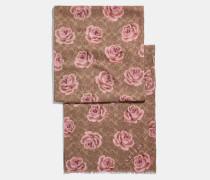 Schal mit Signatur und Rosen