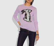Selena Pullover mit Häschen-Intarsie