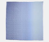 Quadratischer Oversize-Schal mit charakteristischem Ketten-Print und Farbeffekt