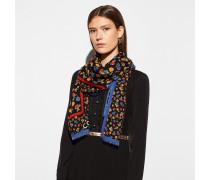 Quadratischer Oversize-Schal mit Gänseblümchen
