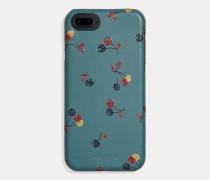 iPhone 7/X Hülle mit Kirsch-Print