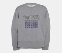 Sweatshirt in Schattentext mit Rexy und Pferdekutsche