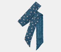 Schmaler Schal mit charakteristischem Ketten-Print und Monogramm