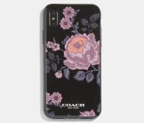 iPhone X/XS Hülle mit Blüten-Print