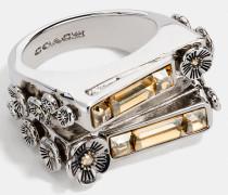 Zweireihiger Ring mit Stein