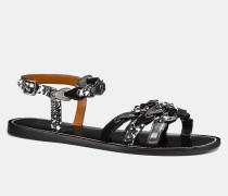 Sandale mit Gliederweboptik
