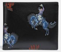 Doppelt gefaltetes Portemonnaie mit Rodeo-Print