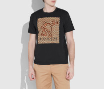 X Keith Haring charakteristisches T-Shirt