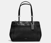 Edie Reisetasche aus gestepptem Leder mit Drehverschluss