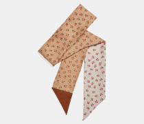 Schmaler Schal mit Blumen-Print
