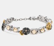 """Gliederarmband mit charakteristischem Stein und Willow Floral""""-Design"""