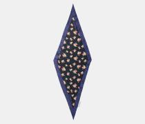 Schal in Rautenform mit Waldblumen-Print
