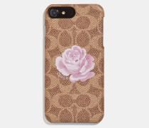 Iphone 8 Plus Etui mit charakteristisches Rosenprint