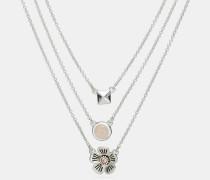 """Mehrreihige Willow Floral""""-Halskette"""