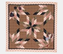 Charakteristischer quadratischer Schal mit Patchwork
