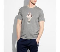 T-Shirt mit Eisbechermotiv
