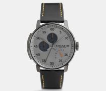 Bleecker Armbanduhr mit Lederarmband