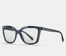 Quadratische Sonnenbrille mit abgeschrägten Kanten