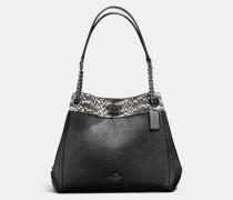 Turnlock Edie Shoulder Bag In Colorblock Mixed Materials