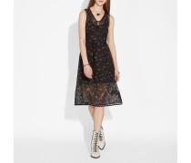 Ärmelloses Kleid mit Wildblumen Print