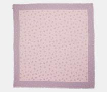 Quadratischer Oversize-Schal mit geblümtem Schleifen-Print