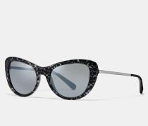 Charakteristische Katzenaugen-Sonnenbrille mit Farbeffekt