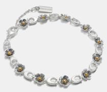 """Feines Willow Floral""""-Armband mit 18-Karat-Goldlegierung"""