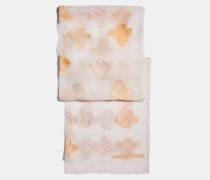 Länglicher Seidenschal mit Schmetterlings-Print