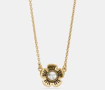 "Willow Floral""-Halskette mit Perle"