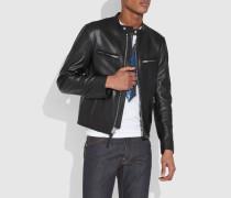 Racer-Jacke aus Leder