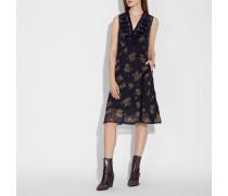 Militärkleid mit Waldblumen Print