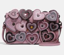 Umhänge-Clutch mit Umschlag und Herzen