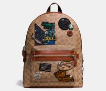 X Keith Haring Academy Rucksack aus charakteristischem Patchwork