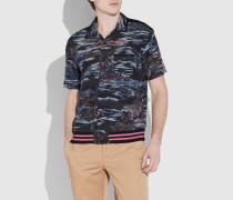 College-Bowling-Shirt mit Hawaii-Print