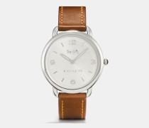 Delancey Slim Leather Strap Watch