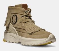 Mokassin-Sneaker mit Fransen und Aufnäher