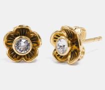 Teerosenblütenblätter-Ohrringe