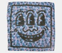 X Keith Haring quadratischer Schal