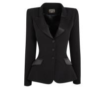 Billy Blazer Jacket Tailored In Black Silk