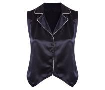 Selene Panther Waistcoat In Black Silk
