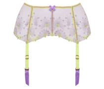 Kaylie Suspender In Yellow Tulle With Firework Embroidery