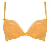 Anna Padded Plunge Underwired Bra In Yellow