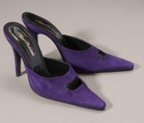 Delinah High Heel Mule In Purple Suede