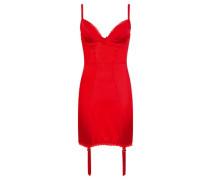 Felinda Slip In Red Silk