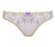 Kaylie Sheer Brief In Yelllow Tulle With Firework Embroidery